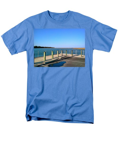 Great Day For Fishing In The Marsh Men's T-Shirt  (Regular Fit) by Amazing Photographs AKA Christian Wilson