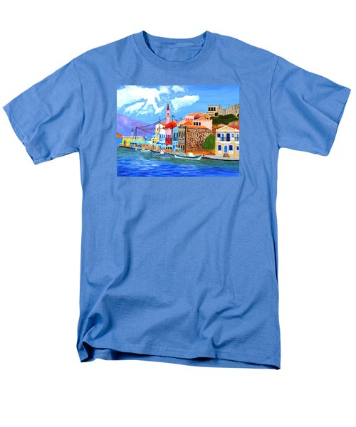 Greek Coast Men's T-Shirt  (Regular Fit) by Magdalena Frohnsdorff
