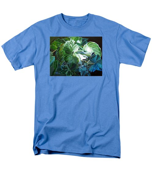 Green Leaves Study Men's T-Shirt  (Regular Fit) by LaVonne Hand