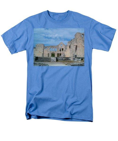 Men's T-Shirt  (Regular Fit) featuring the photograph Haha Tonka Castle 1 by Sara  Raber