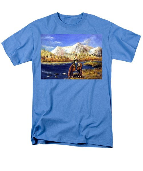 Men's T-Shirt  (Regular Fit) featuring the painting Happy Trails by Bernadette Krupa