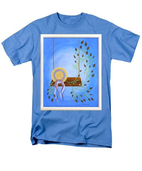 Men's T-Shirt  (Regular Fit) featuring the painting Hat On A Swing by Ron Davidson