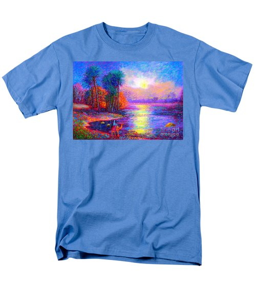 Men's T-Shirt  (Regular Fit) featuring the painting Haunting Star by Jane Small