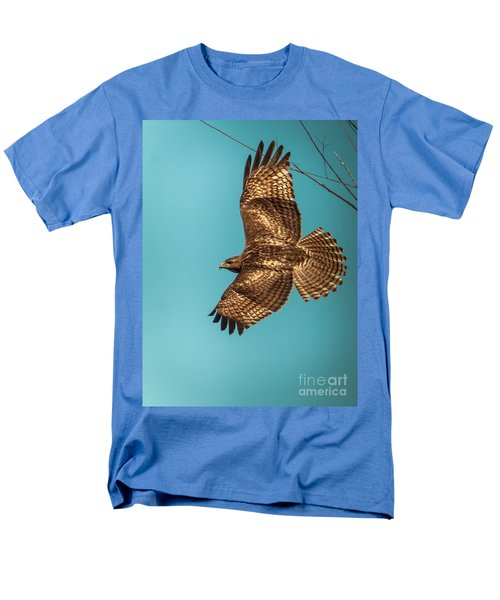 Hawk In Flight Men's T-Shirt  (Regular Fit) by Robert Frederick