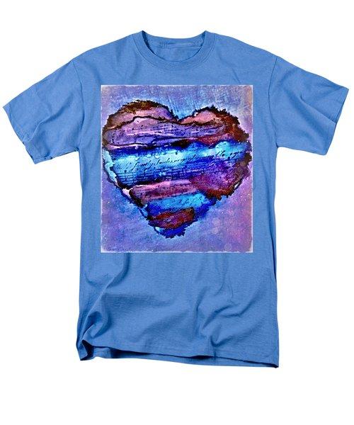 Heart Love Music Alcohol Inks  Men's T-Shirt  (Regular Fit) by Danielle  Parent
