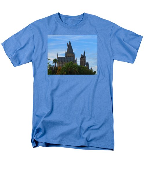 Hogwarts Castle With Towers Men's T-Shirt  (Regular Fit) by Kathy Long