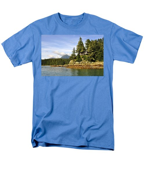 Men's T-Shirt  (Regular Fit) featuring the photograph House Upon A Rock by Cathy Mahnke