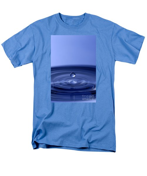 Hovering Blue Water Drop Men's T-Shirt  (Regular Fit) by Anthony Sacco