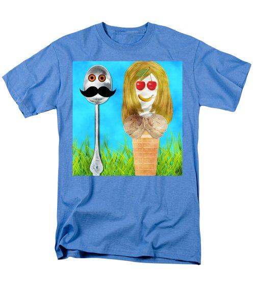 Men's T-Shirt  (Regular Fit) featuring the digital art Ice Cream Couple by Ally  White