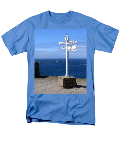 Men's T-Shirt  (Regular Fit) featuring the photograph Iconic Lands End England by Terri Waters