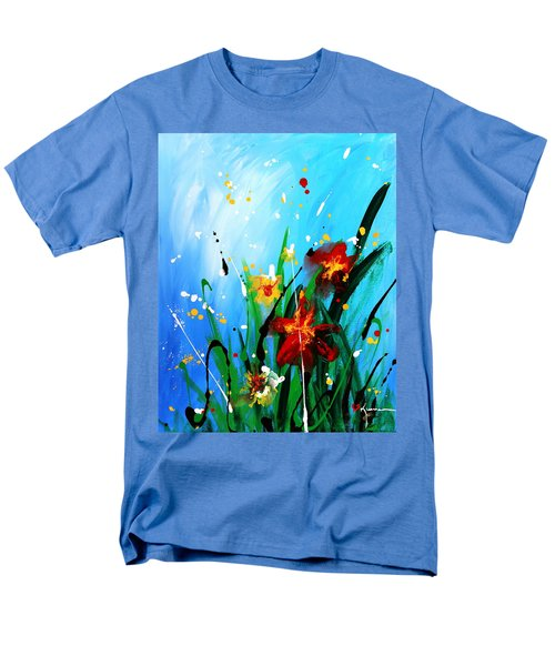 Men's T-Shirt  (Regular Fit) featuring the painting In The Garden by Kume Bryant