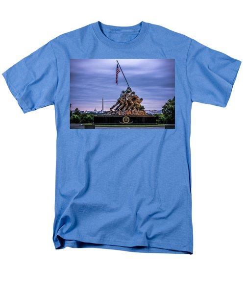 Iwo Jima Monument Men's T-Shirt  (Regular Fit) by David Morefield