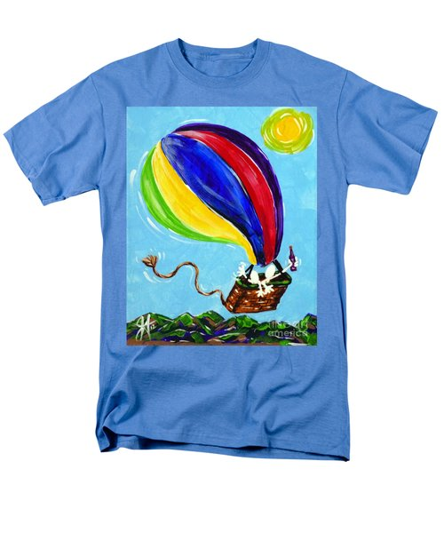 Men's T-Shirt  (Regular Fit) featuring the painting Jack And Charlie Fly Away by Jackie Carpenter