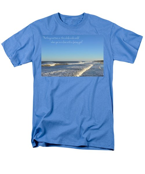 Jersey Girl Seaside Heights Quote Men's T-Shirt  (Regular Fit) by Terry DeLuco
