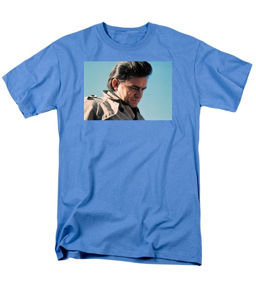 Men's T-Shirt  (Regular Fit) featuring the photograph Johnny Cash  Music Homage Ballad Of Ira Hayes Old Tucson Arizona 1971 by David Lee Guss