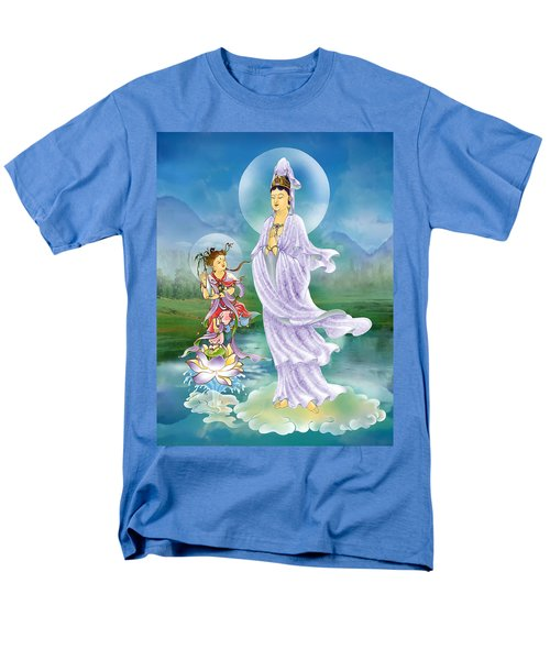 Men's T-Shirt  (Regular Fit) featuring the photograph Joining Palms Kuan Yin by Lanjee Chee