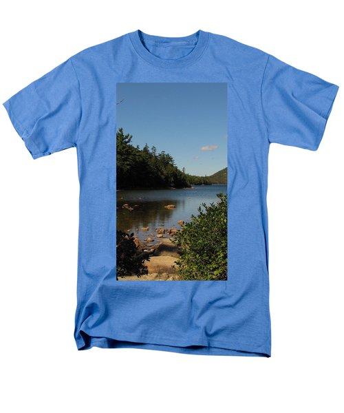 Men's T-Shirt  (Regular Fit) featuring the photograph Jordan Pond Bar Harbor Maine by Jennifer Wheatley Wolf