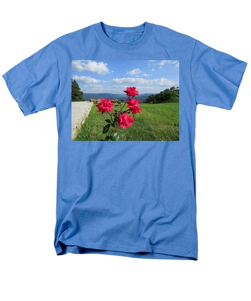 Knock Out Rose Men's T-Shirt  (Regular Fit) by Aaron Martens
