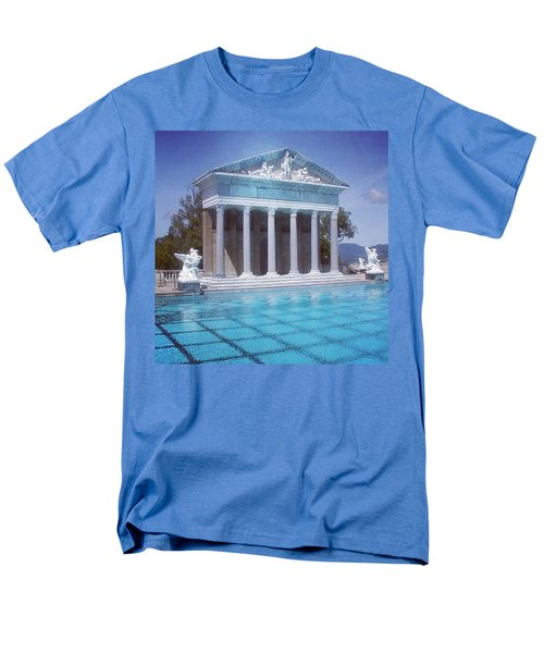 La Dolce Vita At Hearst Castle - San Simeon Ca Men's T-Shirt  (Regular Fit) by Anna Porter