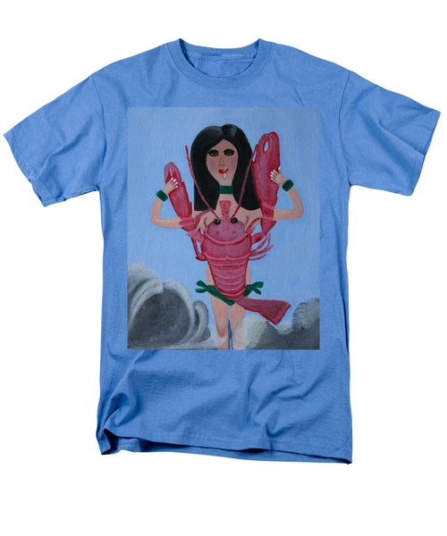 Lady Lobster Men's T-Shirt  (Regular Fit) by Lorna Maza