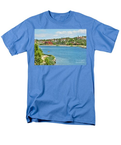 Men's T-Shirt  (Regular Fit) featuring the photograph Lake Las Vegas In May by Emmy Marie Vickers
