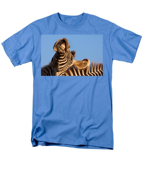 Men's T-Shirt  (Regular Fit) featuring the photograph Laughing Zebra by Nick  Biemans