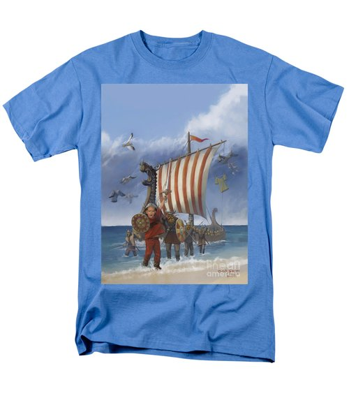 Men's T-Shirt  (Regular Fit) featuring the painting Legendary Viking by Rob Corsetti