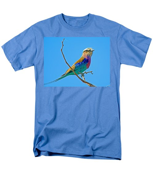 Lilac-breasted Roller In Kruger National Park-south Africa Men's T-Shirt  (Regular Fit) by Ruth Hager