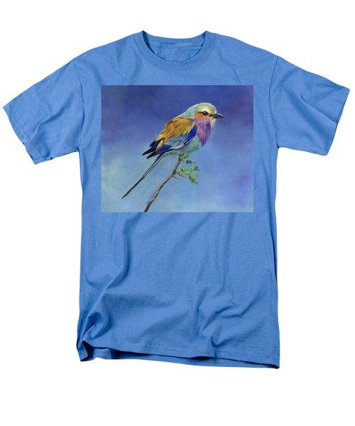 Lilacbreasted Roller Men's T-Shirt  (Regular Fit) by David Stribbling