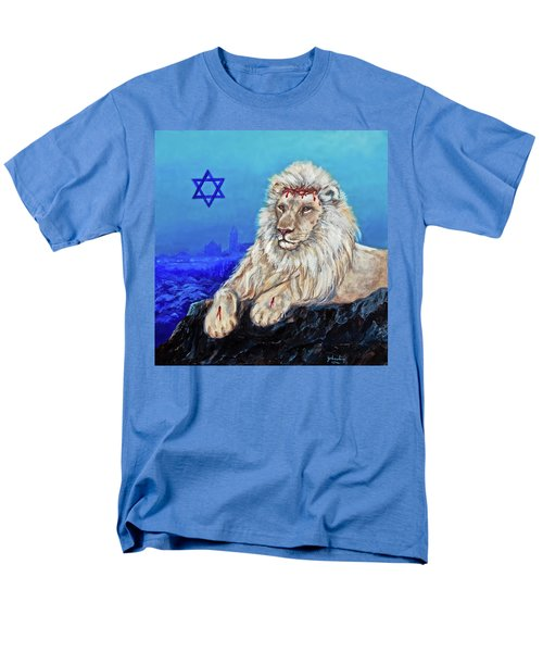 Lion Of Judah - Jerusalem Men's T-Shirt  (Regular Fit) by Bob and Nadine Johnston