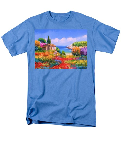 Little House By The Sea Men's T-Shirt  (Regular Fit) by Tim Gilliland