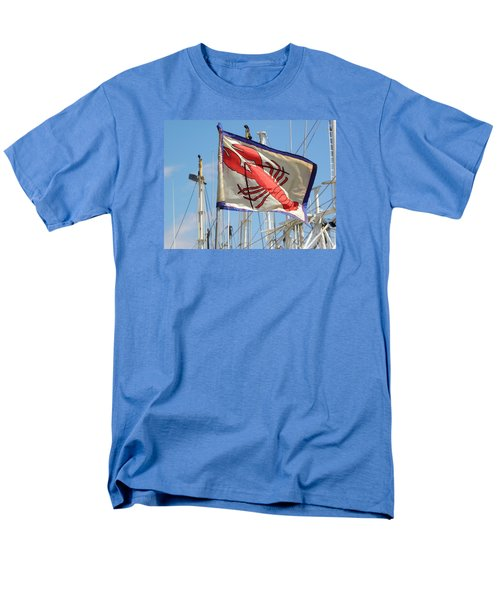 Lobster Flag At The Point Men's T-Shirt  (Regular Fit) by Mary Carol Williams