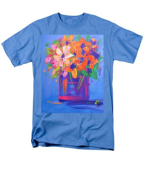 Loosey Goosey Flowers Men's T-Shirt  (Regular Fit) by Terri Einer