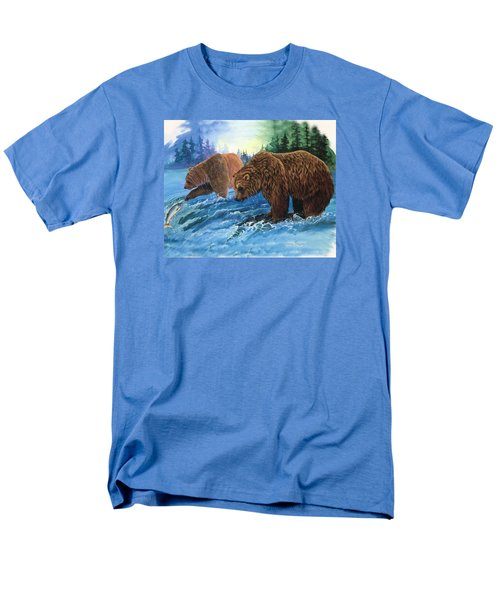 Men's T-Shirt  (Regular Fit) featuring the painting Lunch Break by Sherry Shipley