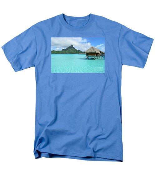 Luxury Overwater Vacation Resort On Bora Bora Island Men's T-Shirt  (Regular Fit)
