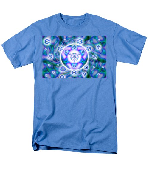 Men's T-Shirt  (Regular Fit) featuring the drawing Magnetic Fluid Harmony by Derek Gedney