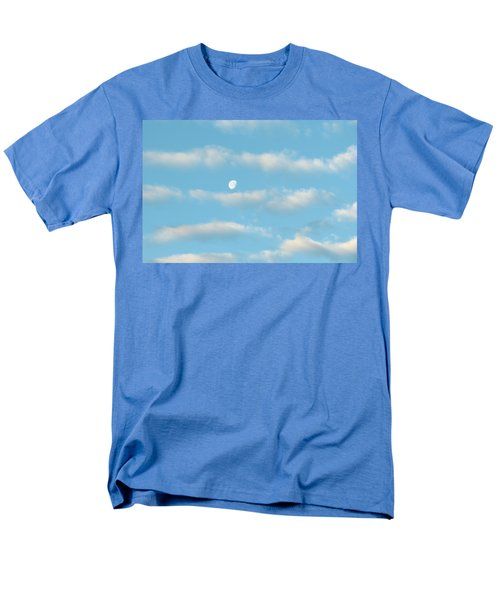 Men's T-Shirt  (Regular Fit) featuring the photograph Man In The Moon In The Clouds by Fortunate Findings Shirley Dickerson