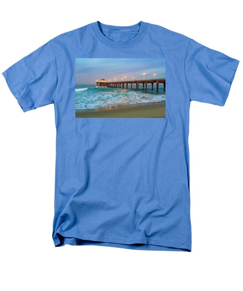 Manhattan Beach Reflections Men's T-Shirt  (Regular Fit) by Art Block Collections
