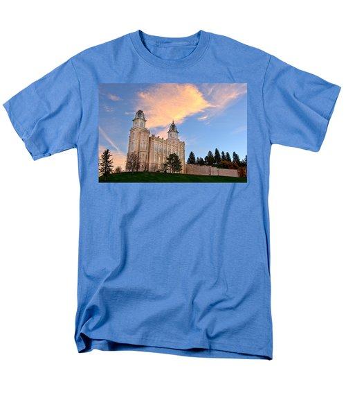 Manti Temple Morning Men's T-Shirt  (Regular Fit) by David Andersen