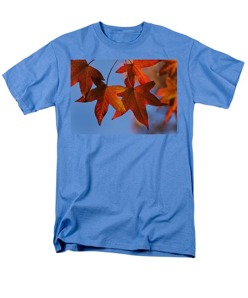 Men's T-Shirt  (Regular Fit) featuring the photograph Maple Leaves In The Fall by Stephen Anderson