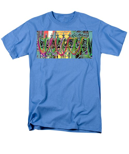 Mardi Gras On Fleur-de-lis Men's T-Shirt  (Regular Fit) by Luana K Perez