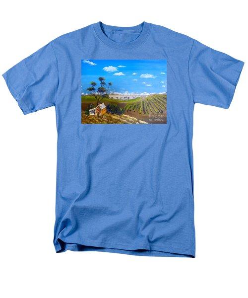 Mclarren Vale Vine Yards Men's T-Shirt  (Regular Fit) by Pamela  Meredith