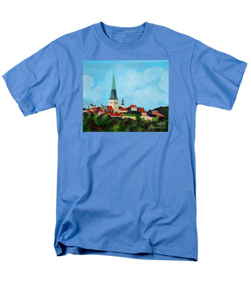Medieval Tallinn Men's T-Shirt  (Regular Fit) by Laurie Morgan