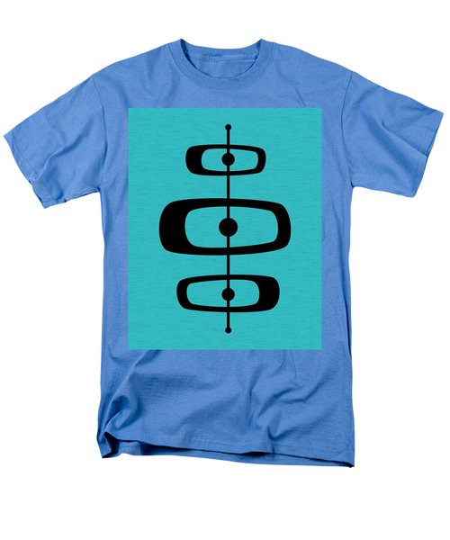 Mid Century Shapes 2 On Turquoise Men's T-Shirt  (Regular Fit)