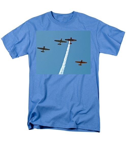 Men's T-Shirt  (Regular Fit) featuring the photograph Missing Man Flyover by Allen Sheffield
