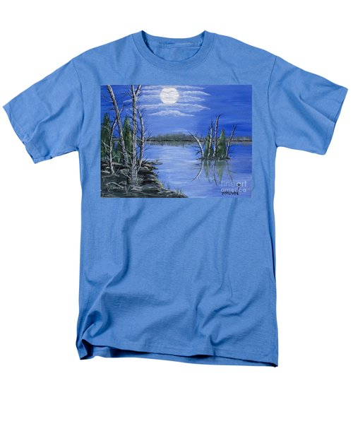 Moonlight Mist Men's T-Shirt  (Regular Fit) by Brenda Brown