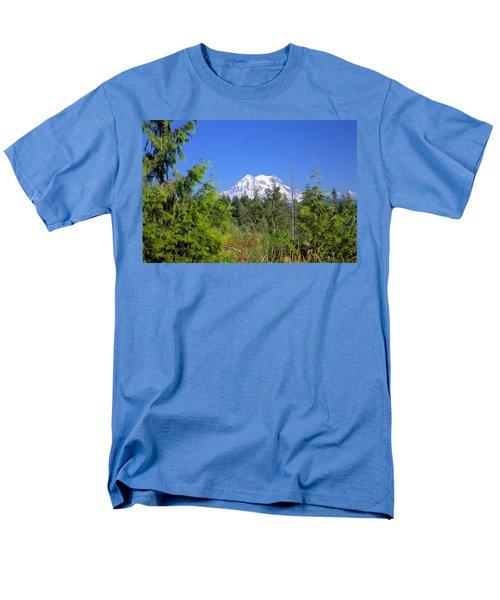 Men's T-Shirt  (Regular Fit) featuring the photograph Mount Rainier by Gordon Elwell