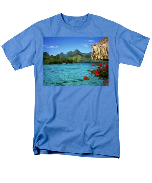 Men's T-Shirt  (Regular Fit) featuring the painting Mountain Lake by Bruce Nutting