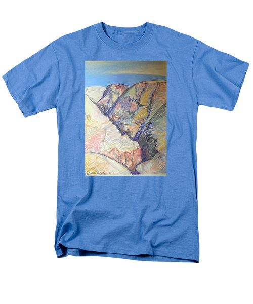 Men's T-Shirt  (Regular Fit) featuring the drawing Nachal Darga Canyon by Esther Newman-Cohen