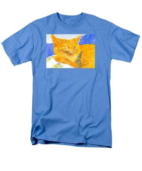 Nappy Cat Men's T-Shirt  (Regular Fit) by Anne Marie Brown
